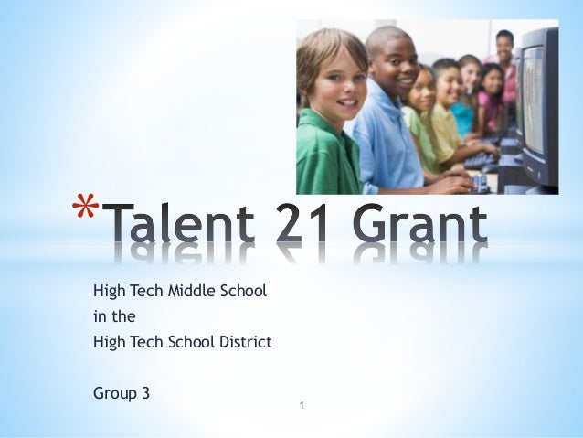 High Tech Middle School in the High Tech School District Group 3 * 1