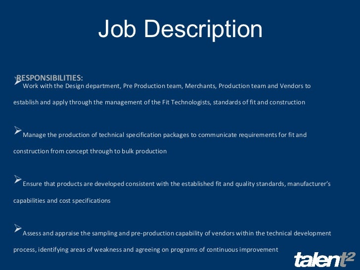 Production Job Description Production Checker Job Description
