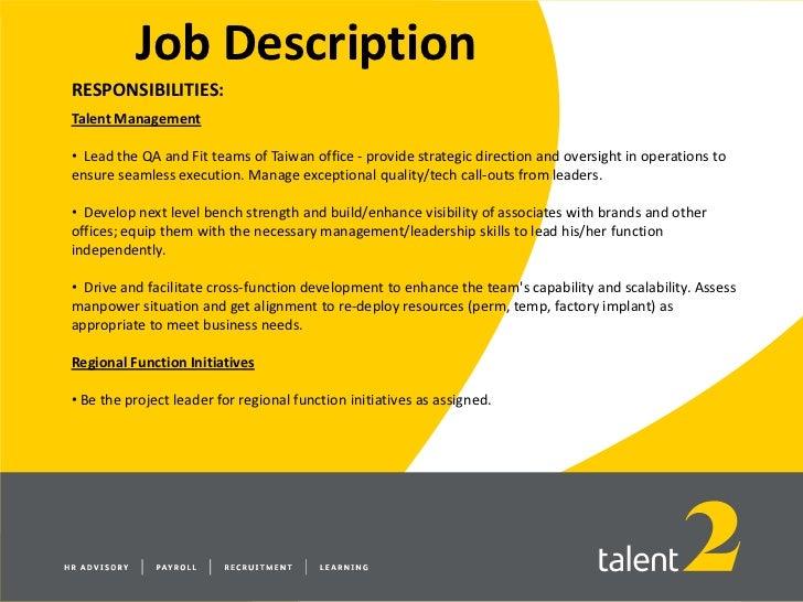 technical manager job description