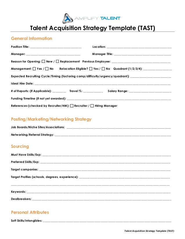 Talent acquisition strategy template amplify talent talent acquisition strategy template tast talent acquisition strategy template tast general information pronofoot35fo Images
