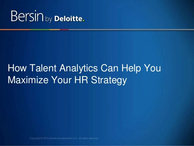 1 How Talent Analytics Can Help You Maximize Your HR Strategy