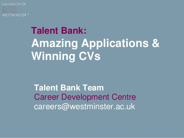 talent bank amazing applications winning cvs