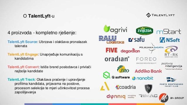 4 proizvoda - kompletno rješenje: TalentLyft Source: Ubrzava i olakšava pronalazak talenata TalentLyft Engage: Unaprjeđuje...
