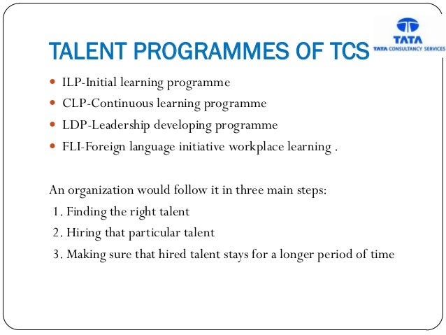 talent management in tcs International association of scientific innovation and research (iasir) (an association unifying the sciences, engineering talent management in tcs.
