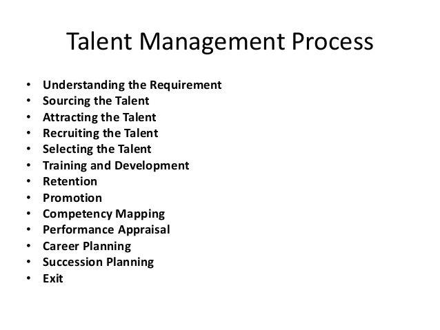 Talent Management Process • • • • • • • • • • • • •  Understanding the Requirement Sourcing the Talent Attracting the Tale...