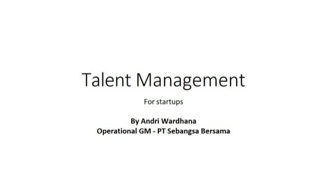 Biztalk Meetup #1 : PT SEBANGSA on Talent Management