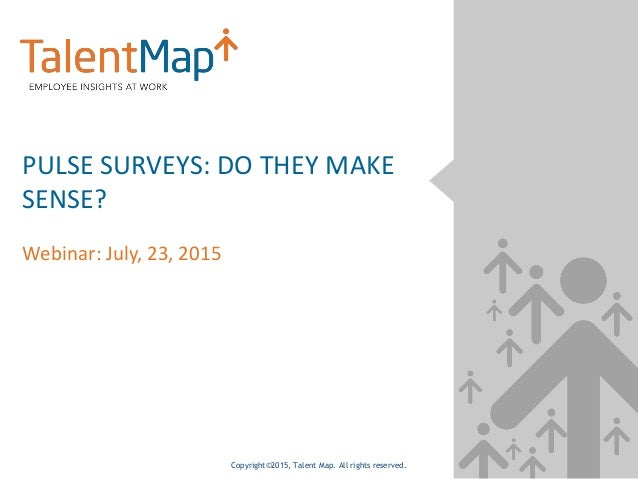 Copyright©2015, Talent Map. All rights reserved. PULSE SURVEYS: DO THEY MAKE SENSE? Webinar: July, 23, 2015