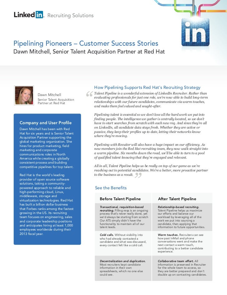 Recruiting SolutionsPipelining Pioneers – Customer Success StoriesDawn Mitchell, Senior Talent Acquisition Partner at Red ...