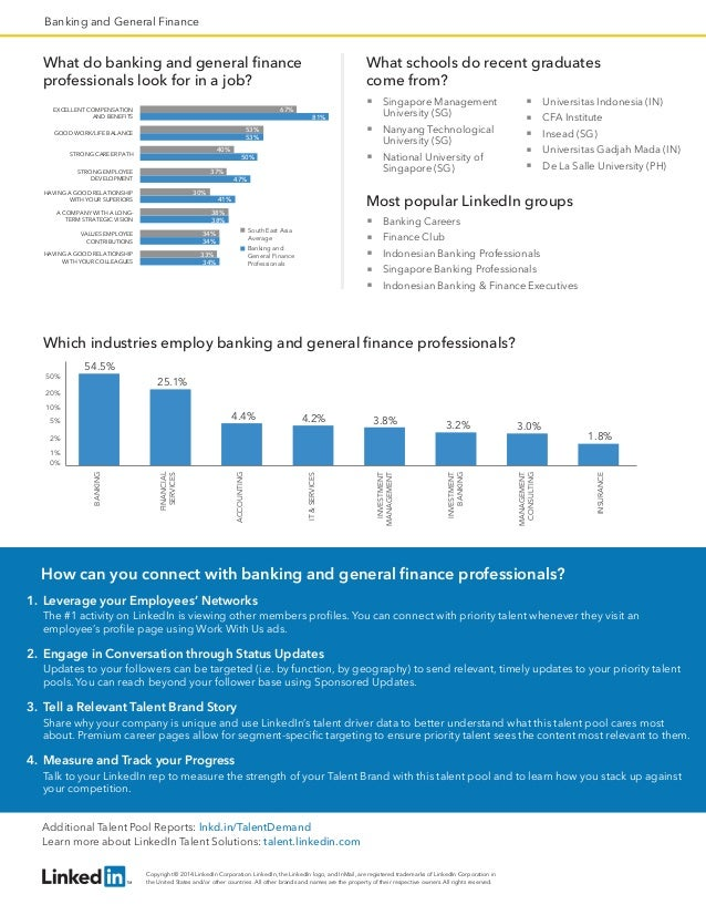 South East Asia Banking and General Finance   Talent Pool Report Slide 2