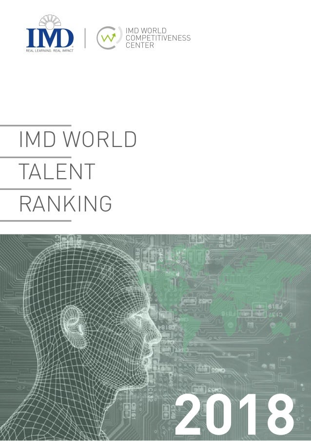 IMD WORLD TALENT RANKING 2018