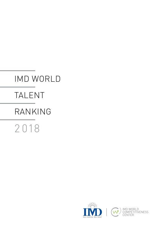 IMD World Talent Ranking 2018 Slide 2