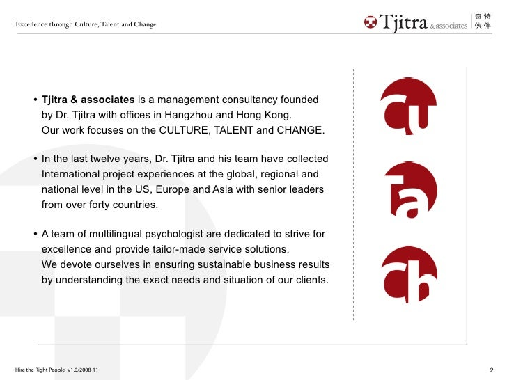 Talent Recruitment: The right person for the right job Slide 2