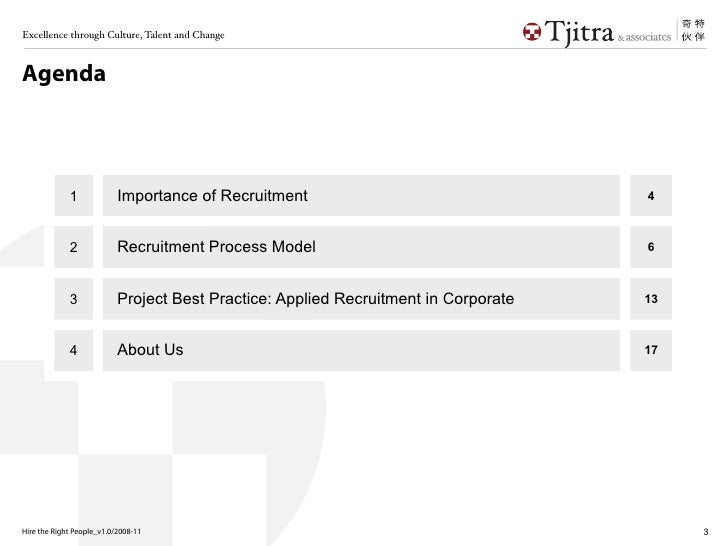 Talent Recruitment: The right person for the right job Slide 3