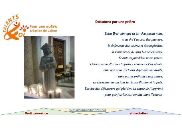 Droit canonique et médiation Slide 2