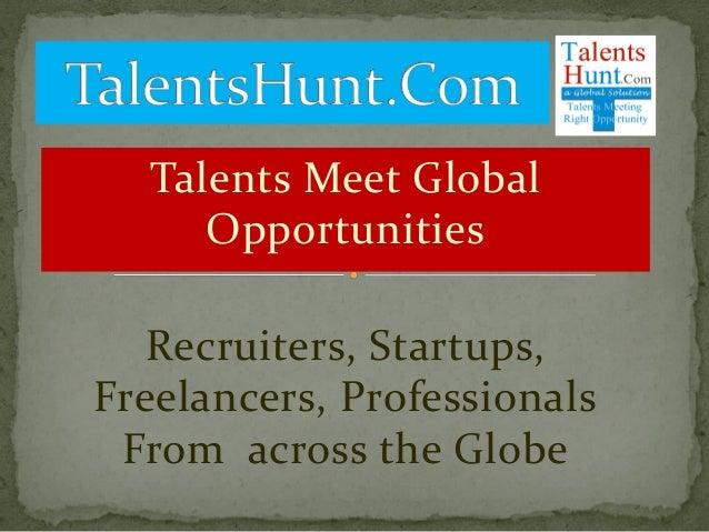global jobs   free job posting site   recruiters  startups