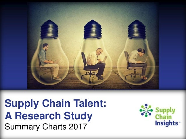 Supply Chain Talent Study - MARCH 2017 - Preliminary Summary Charts