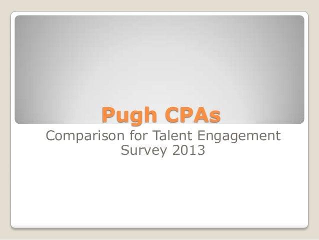 Pugh CPAs Comparison for Talent Engagement Survey 2013