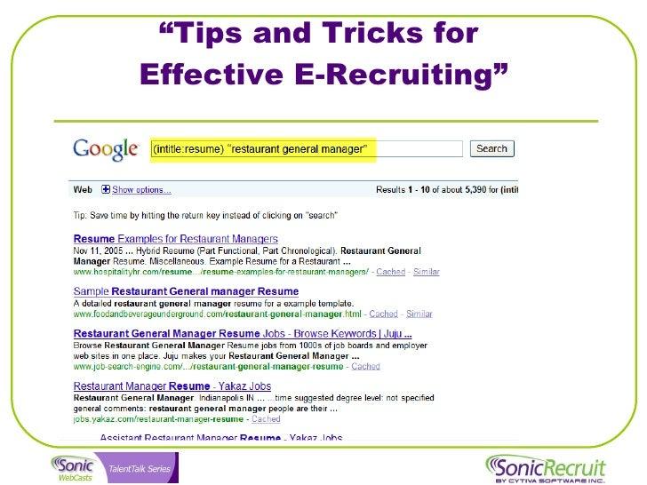 U201cTips And Tricks For Effective E Recruitingu201d ...
