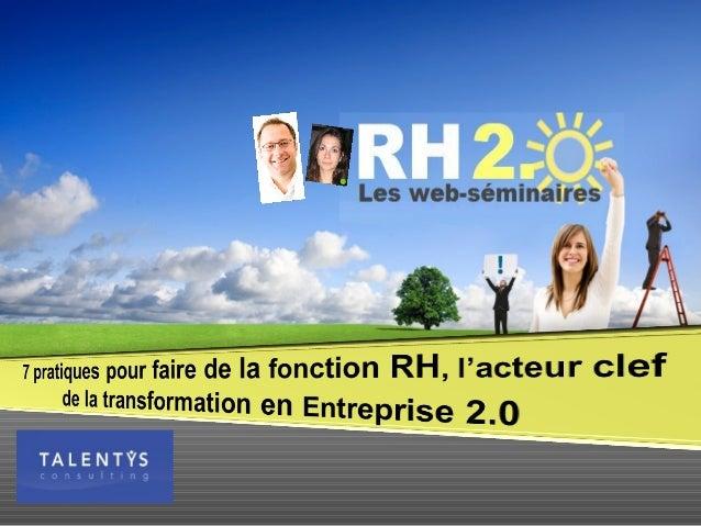 Qui sommes nous ? 14 consultant(e)s, Paris et Genève Conseil en Stratégies et Solutions de Gestion des Talents Filiale du ...