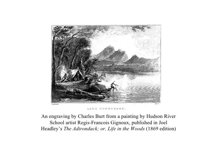 An engraving by Charles Burt from a painting by Hudson River School artist Regis-Francois Gignoux, published in Joel Headl...
