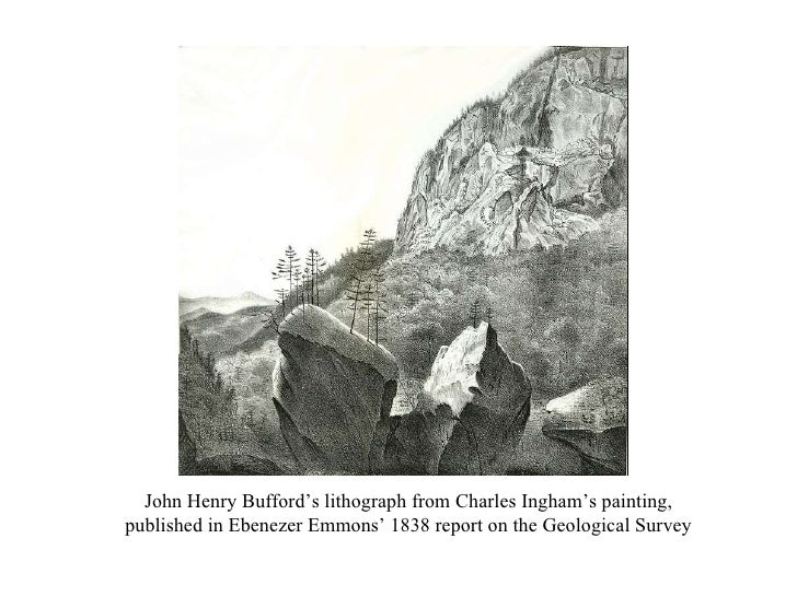 John Henry Bufford's lithograph from Charles Ingham's painting, published in Ebenezer Emmons' 1838 report on the Geologica...