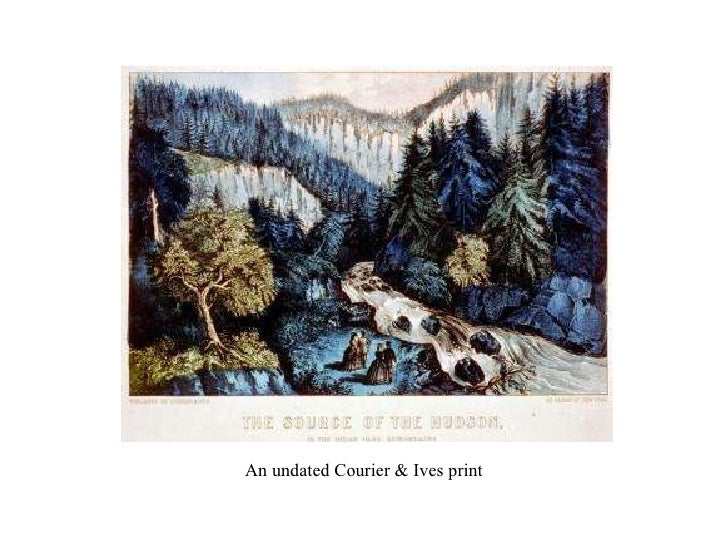 An undated Courier & Ives print