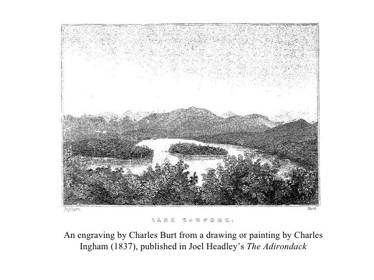 An engraving by Charles Burt from a drawing or painting by Charles Ingham (1837), published in Joel Headley's  The Adirond...