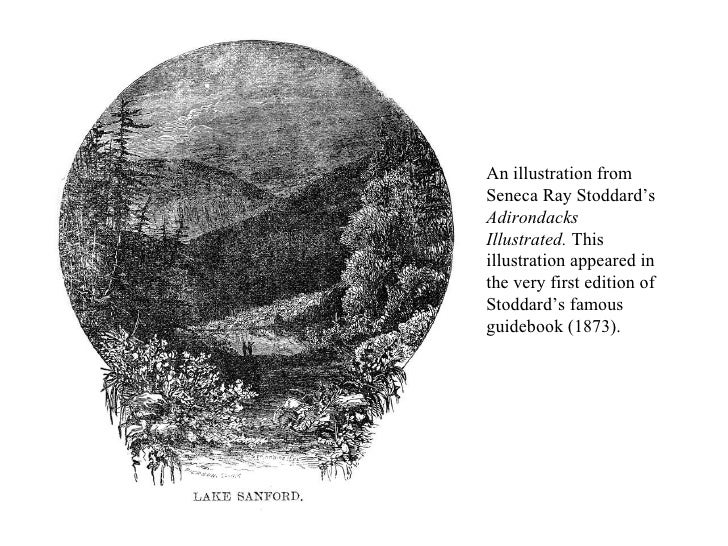An illustration from Seneca Ray Stoddard's  Adirondacks Illustrated.  This illustration appeared in the very first edition...