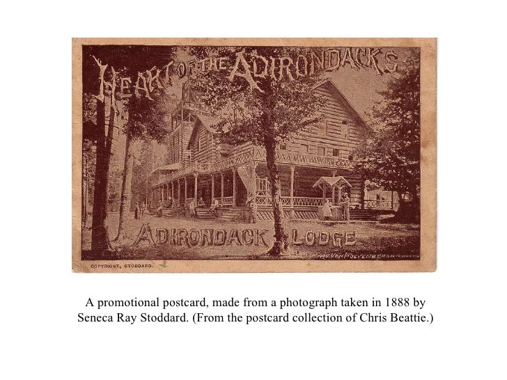 A promotional postcard, made from a photograph taken in 1888 by Seneca Ray Stoddard. (From the postcard collection of Chri...