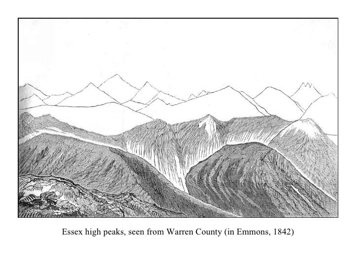 Essex high peaks, seen from Warren County (in Emmons, 1842)