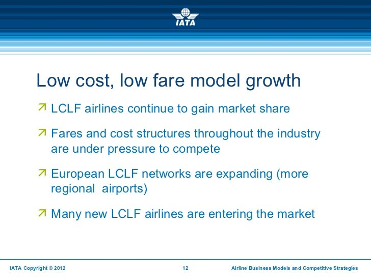 business models in the airline industry Changing business models and employee representation in the airline industry : a comparison of british airways and deutsche lufthansa knut lange, mike.