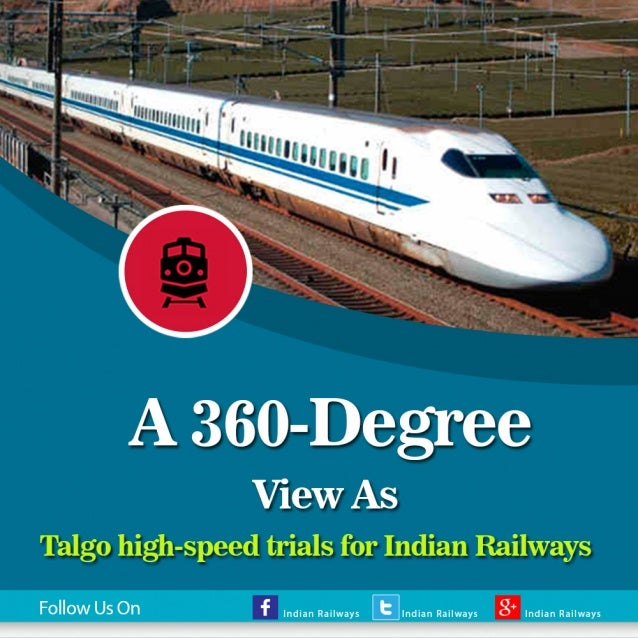 High Speed Talgo Train Trial In India