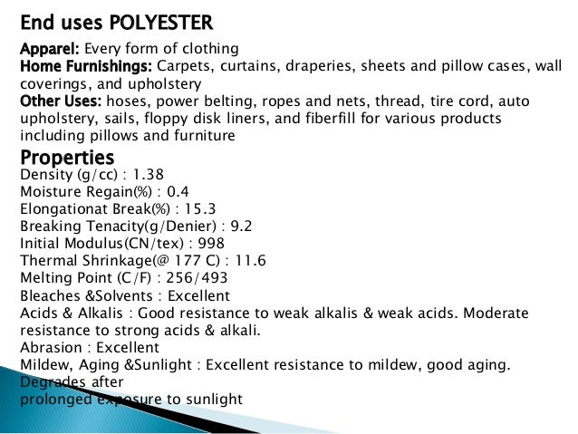 uses of polyester