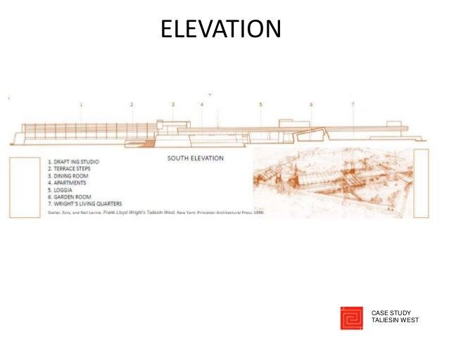ELEVATION CASE STUDY TALIESIN WEST