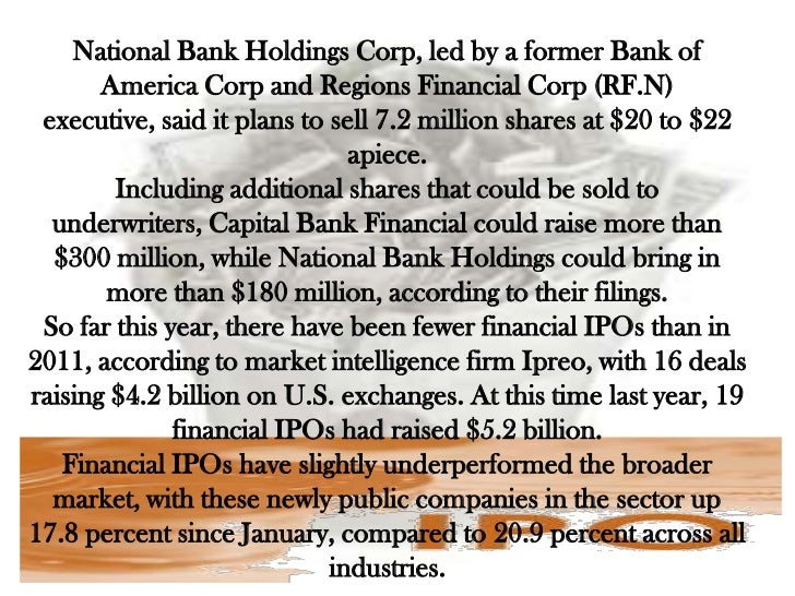 Bank of america ipo price