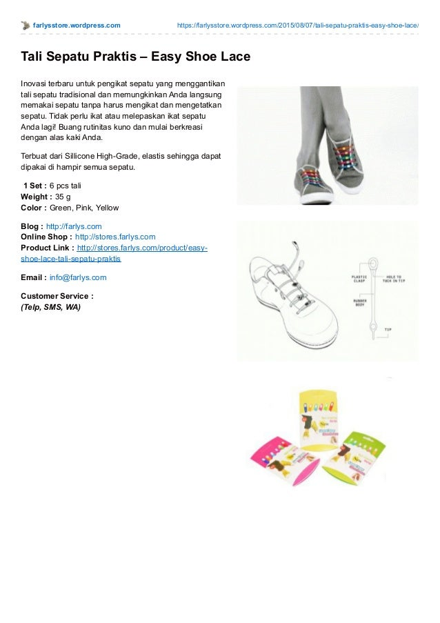 Tali sepatu praktis. farlysstore.wordpress.com  https   farlysstore.wordpress.com 2015 ... eea9d64575