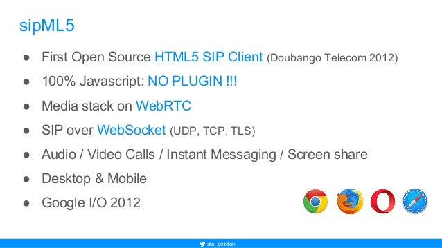 Asterisk WebRTC frontier: realize client SIP Phone with