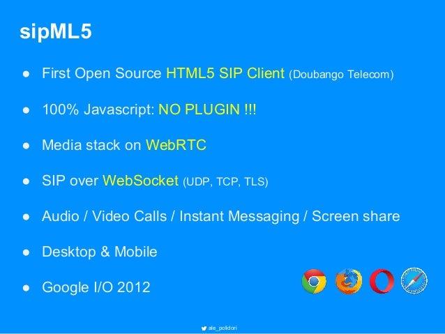 Asterisk WebRTC frontier: make client SIP Phone with sipML5