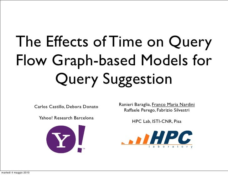 The Effects of Time on Query           Flow Graph-based Models for                Query Suggestion                        ...