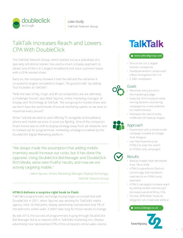 1 The TalkTalk Telecom Group, which started out as a subsidiary of a specialty cell phone retailer, has used a smart, scra...