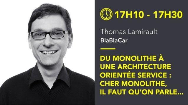 Monolithe, il faut qu'on parle Du monolithe à une architecture orientée service