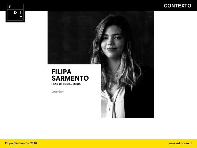 Industry Sessios by EDIT. - Talk #1 - João Vitória e Filipa Sarmento Slide 3