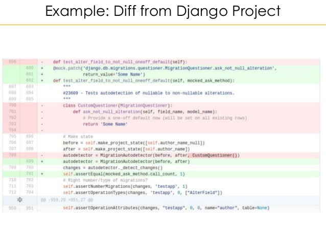 Example: Diff from Django Project