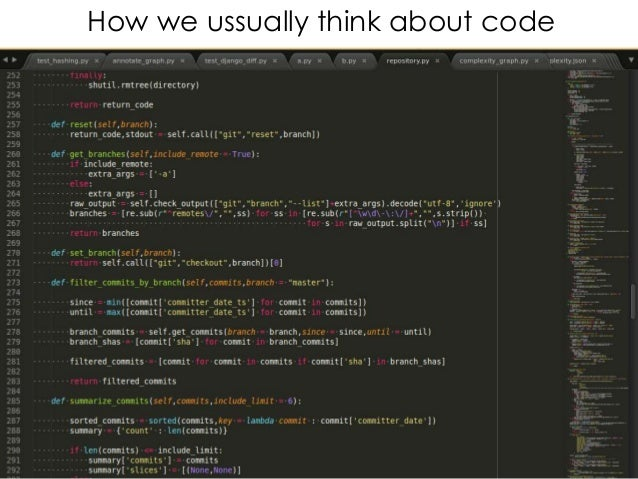 How we ussually think about code