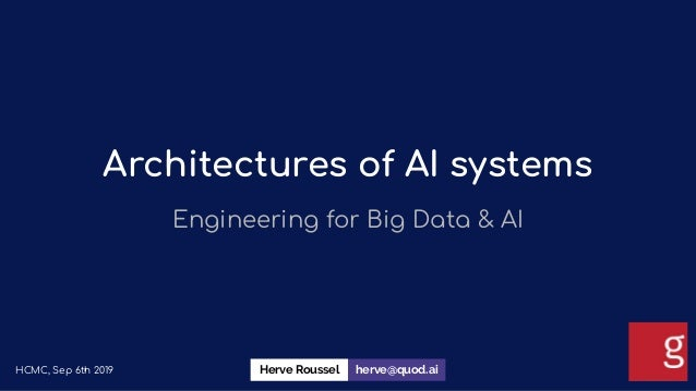 Architectures of AI systems Engineering for Big Data & AI HCMC, Sep 6th 2019 herve@quod.aiHerve Roussel