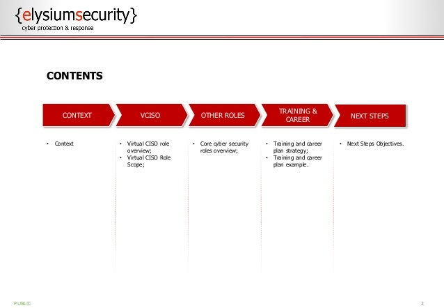 VIRTUAL CISO AND OTHER KEY CYBER ROLES Slide 2
