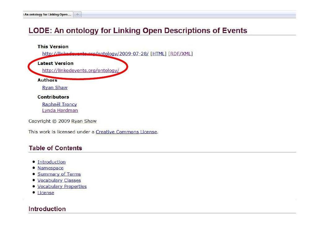 16/09/2009 08/12/2009 -   Event-basedLinking Open Descriptions ofof Media--ASWC 2009, Shanghai, China (CH)                ...