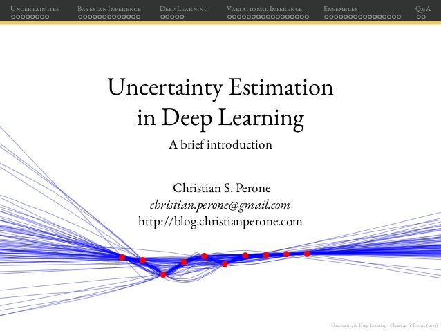 Uncertainty in Deep Learning - Christian S. Perone (2019) Uncertainties Bayesian Inference Deep Learning Variational Infer...