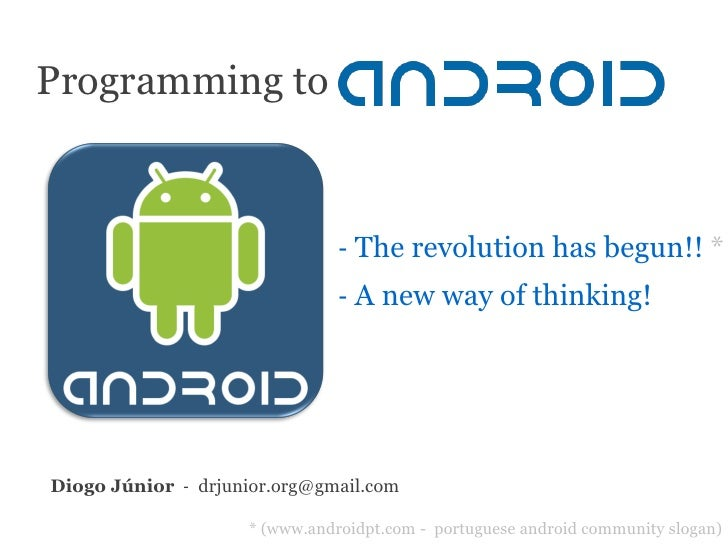 Programming to                                    ‐ The revolution has begun!! *                                 ‐ A new w...