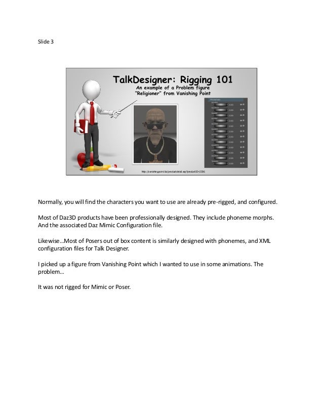 PoserTut101: How to rig a character in Poser Talk designer for Lipsync